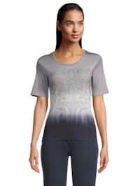 Rundhals-Shirt mit Farbverlauf