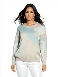Pullover mit fantasievollem Muster