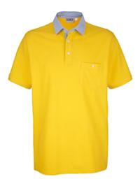 Tričko s kontrastným golierom