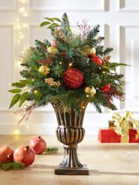 Kerststukje in bokaal