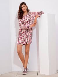 Kleid mit Hahnentritt-Muster allover