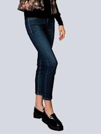 Jeans mit Logodetail an der Cointasche