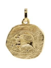 Sternzeichen-Anhänger Steinbock 585 Gold 16 mm