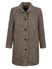 Dlhá bunda v kontrastnom buklé vzhľade