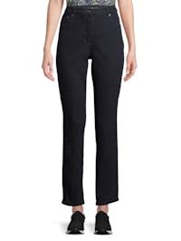 Basic-Jeans mit aufgesetzten Taschen Form