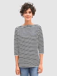 Sweatshirt met gestructureerde strepen