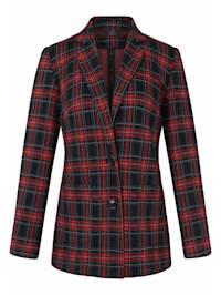 Jersey-Blazer mit Reverskragen .