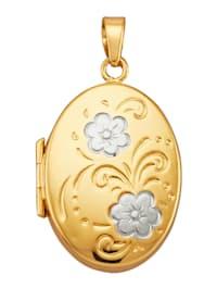 Medaljonkiriipus 375-keltakultaa