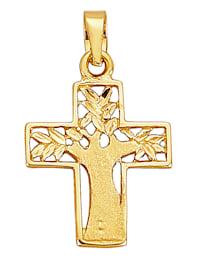 Kreuz-Anhänger in Gelbgold