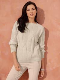 Pullover aus Strick-Mix