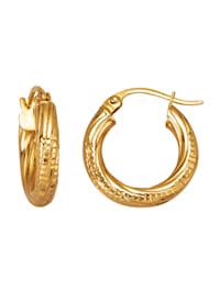 Creolen in Silber 925, vergoldet