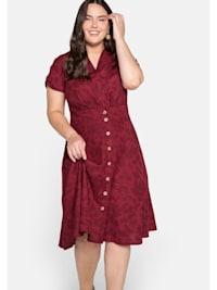 Kleid mit tonigem Blumendruck, in A-Linie