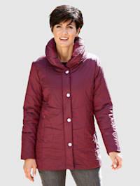 Gewatteerde jas met changeant glans