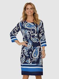 Kleid mit platziertem Paisley-Druck