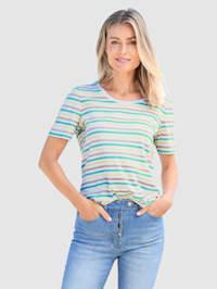 Shirt mit bunten Streifen