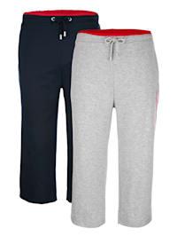 Sportovní kalhoty s červenou kontrastní pasovkou