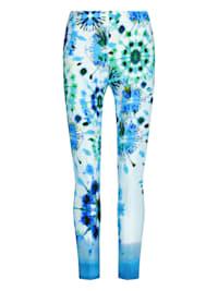 Schmale Hose INIDE mit modischem Batik-Design