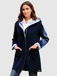 Kabátek v dlouhém střihu