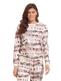 Sweatshirt mit grafischem Muster allover