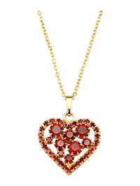 Pendentif cœur avec chaîne à cristaux