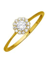 Damenring Gelbgold 375