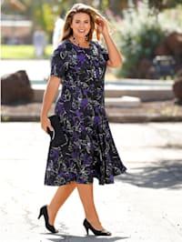 Kleid in floralem Druckdessin