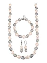Halsband, armband & örhängen av odlade sötvattenspärlor