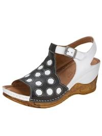 Sandaletter i fantasifull design med prickar