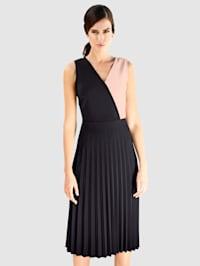 Jersey jurk met colour blocking