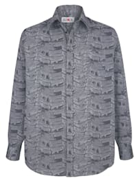 Skjorta med jacquardmönster