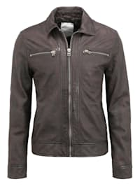 Lederjacke GC Midtown jacket Ton-in-Ton-Nähte