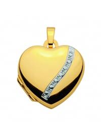 Damen Goldschmuck 585 Gold Medaillon Anhänger