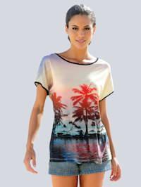 Strandshirt mit sommerlichem Fotodruck
