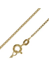 Goldkette 333 Gold Venezianer Kette für Damen und Herren 0,9 mm