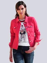 Džínsová bunda v módnej farbe