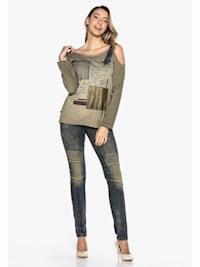 Jeanshose mit doppeltem Bund