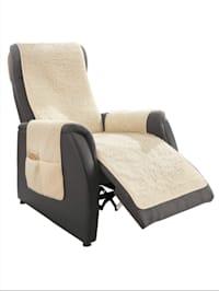 Protection pour fauteuil en laine vierge avec protège-accoudoirs