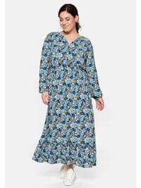 Sheego Kleid mit floralem Print und V-Ausschnitt