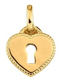 Hjerteanheng i gull 375
