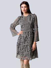 Kleid im Muster-Mix