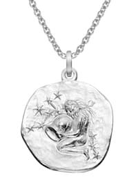 Sternzeichen Wassermann Ø 20 mm und Halskette 925 Silber