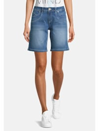 Jeans-Shorts mit Waschung Material