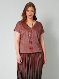Tričko s elastickým spodním zakončením