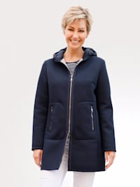 Jacket in a soft scuba fabric