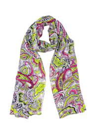 Schal Grashopper mit Paisley Muster in kräftigen Farben