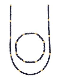 Parure de bijoux 2 pièces avec saphirs