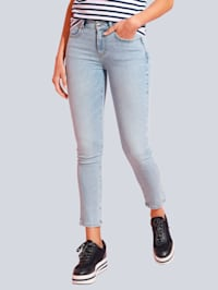 Jeans in heller Waschung