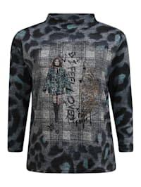 Sweatshirt mit Muster-Mix