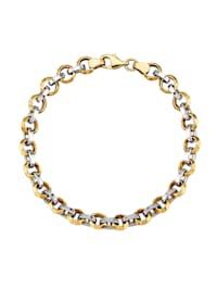 Armband i gult och vitt guld 9 k