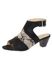 Sandale mit variablem Fesselriemchen
